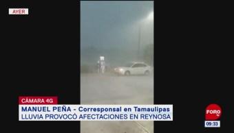 Lluvia genera inundaciones en Reynosa, Tamaulipas; hubo corte de agua y luz