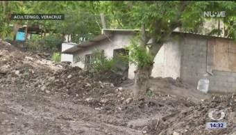 FOTO: Lluvia provoca deslave en Veracruz
