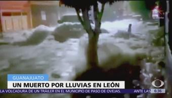 Lluvias en Guanajuato dejan un muerto