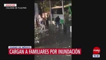 Lluvias originan inundaciones en la Calzada de Tlalpan