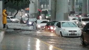 Lluvia colapsa Ciudad de México; el sur fue la zona más afectada