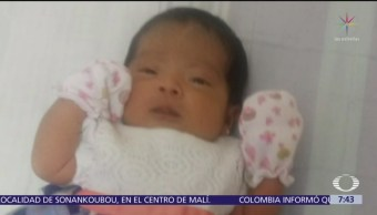 Localizan a bebé robada en Naucalpan, Edomex