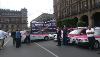 FOTO Marcha de taxistas, ¿qué zonas afecta en CDMX y Edomex? (S.Servín 3 junio 2019 cdmx)