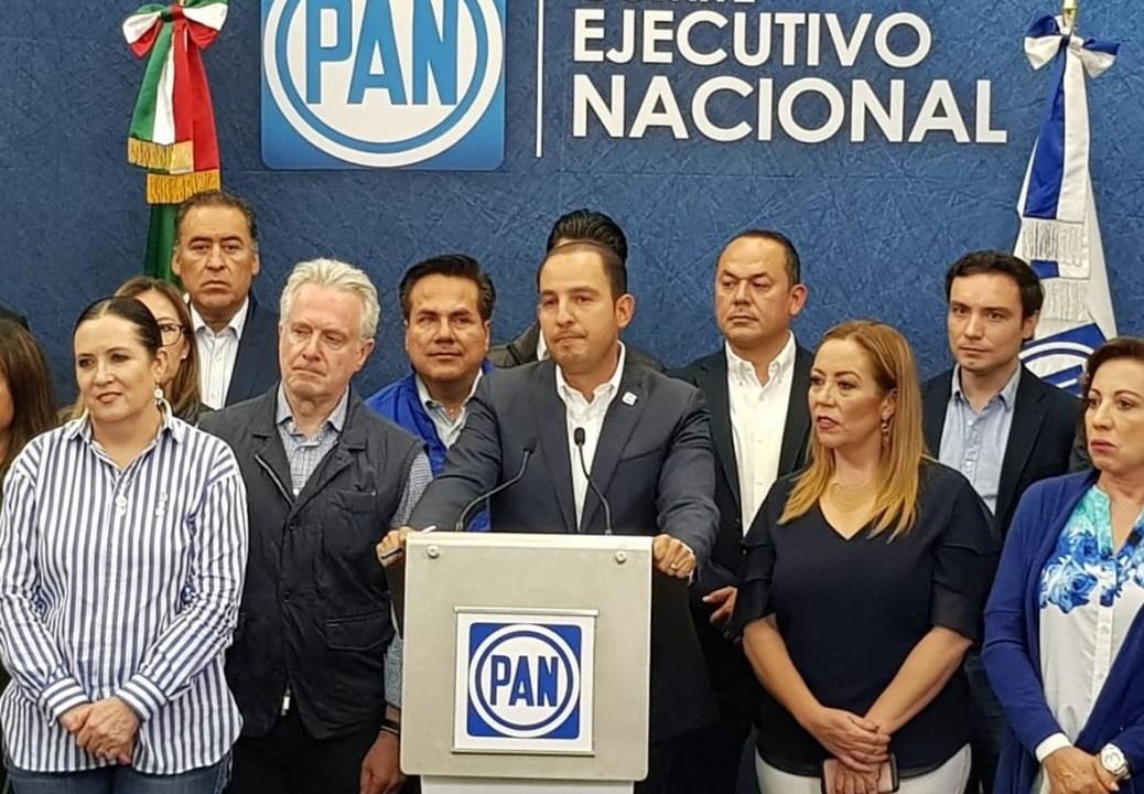 Foto: El presidente del PAN, Marko Cortés, asegura que el partido blanquiazul ganó las elecciones en cuatro de cinco estados, de acuerdo a sus encuestas de salida, junio 2 de 2019 (Twitter: @johnerencastle1)