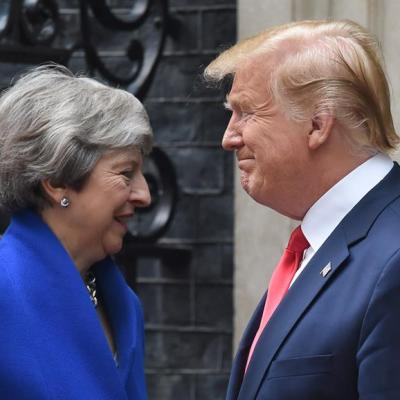 May y Trump aspiran a un 'ambicioso acuerdo comercial' tras el Brexit