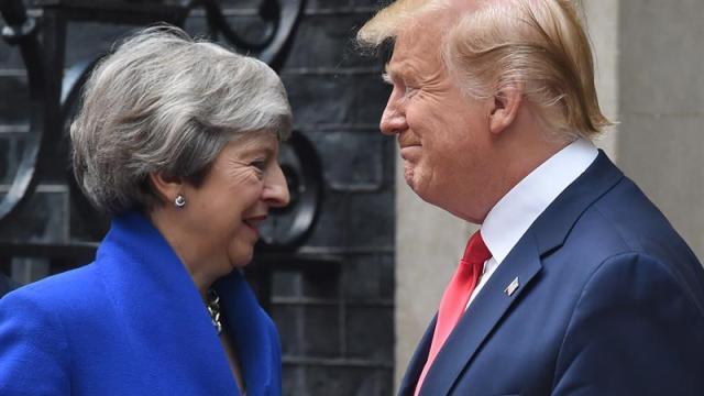 Foto May y Trump aspiran a un ambicioso acuerdo comercial 4 junio 2019