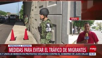 FOTO: Medidas para evitar el tráfico de migrantes en Tapachula, Chiapas