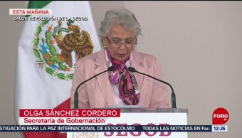 México refrenda compromiso con refugiados, dice Sánchez Cordero