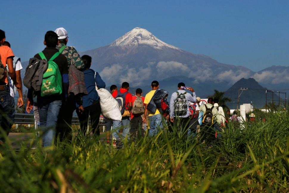 Foto: Migrantes centroamericanos a su paso por Veracruz, 5 de mayo de 2018, Veracruz, México