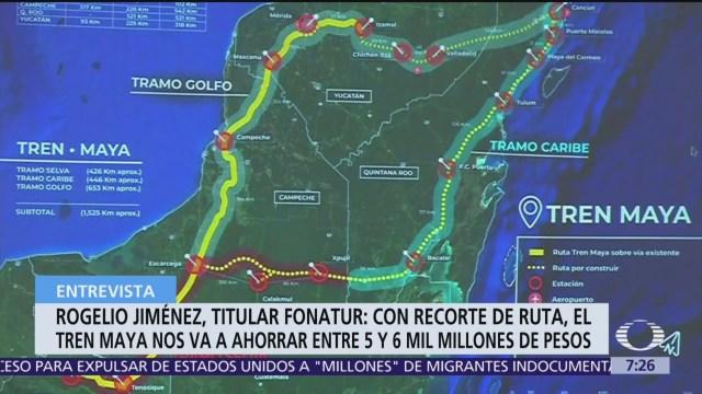 Modificar ruta de Tren Maya ahorrará entre 5 y 6 mil mdp: Fonatur