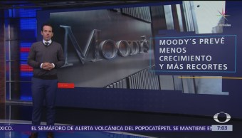 Moody's baja pronóstico de crecimiento para México