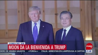 FOTO: Moon da la bienvenida a Trump en Corea del Sur, 29 Junio 2019