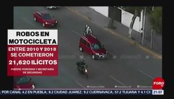 Foto: Robos Motocicletas Delincuentes Cdmx 25 Junio 2019