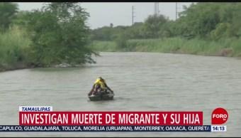FOTO: Muere padre e hija al intentar cruzar el Río Bravo
