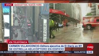 FOTO: Muere una persona tras estrellarse helicóptero en Manhattan