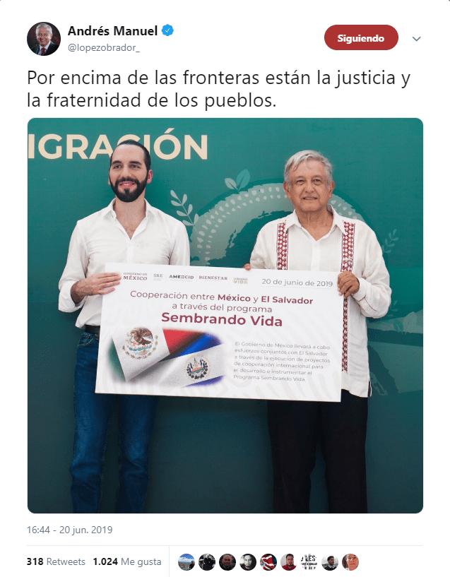 México y El Salvador ponen ejemplo de cooperación: AMLO