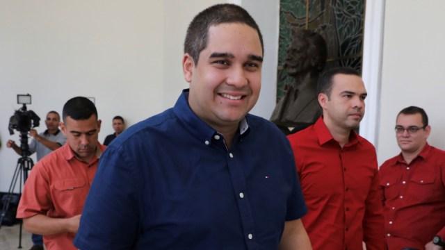 Foto: Nicolás Maduro Guerra (c), hijo del presidente Nicolás Maduro en Caracas, Venezuela, 29 junio 2019