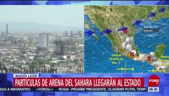 FOTO: Nube de arena del Sahara llegará a Nuevo León, 22 Junio 2019