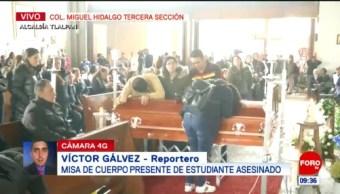 Ofrecen misa al estudiante Hugo Leonardo Avendaño