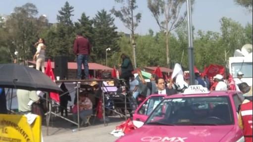 Foto: Manifestantes en Emiliano Zapata, entre Congreso de la Unión y Eje Tres Oriente, 20 de junio de 2019, Ciudad de México