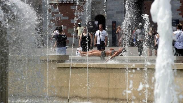 Foto: Ola de calor en Milán, 26 de junio de 2019, Italia