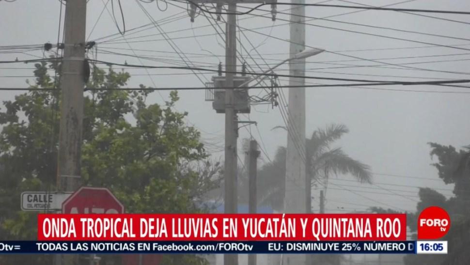 Foto: En Mérida, calles y avenidas se encharcaron, en algunas zonas y el agua entró a las casas, el 30 de junio de 2019 (Noticieros Televisa)
