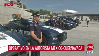Operativo en casetas de la México Cuernavaca