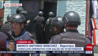 Foto: Operativo en colonia Morelos deja 14 detenidos