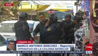Foto: Operativo en inmueble en la calle Jesús Carranza