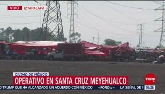 Operativo en Santa Cruz Meyehualco