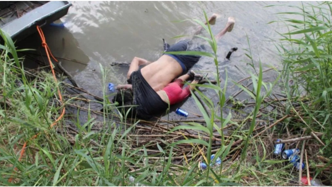Foto: Padre e hija murieron ahogados en el Río Bravo, 25 de junio de 2019, México