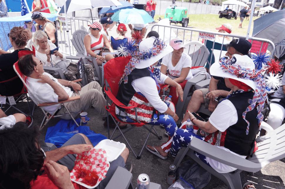 Foto: Partidarios de Trump lo esperan en Orlando, para arranque de campaña, 18 de junio de 2019, Florida