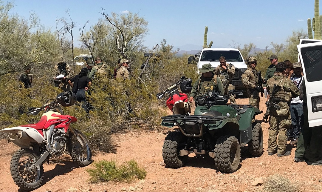 Foto: operativo de la Patrulla Fronteriza, 10 de junio 2019. Twitter @CBPArizona