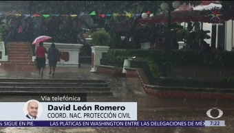 PC alerta a Guerrero, Oaxaca y Veracruz por lluvias en las próximas horas
