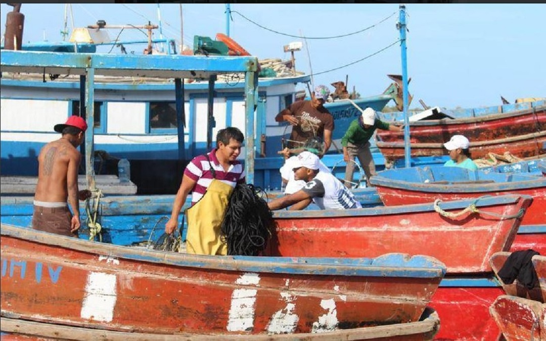 Foto: pescadores de Yucatán, 7 de junio 2019. Twitter @Noticaribe