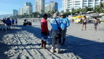 Foto: Policía turistca en Acapulco, 4 de junio 2019. Twitter @PoliturAcapulco