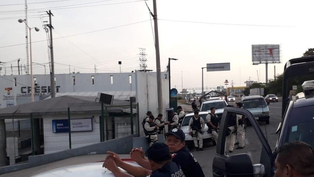 Foto: Policías vigilan Centro de Reinserción Social de Tabasco, 25 de junio de 2019, México