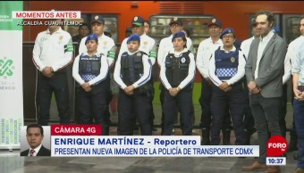 Presentan nueva imagen de la Policía del transporte de la CDMX