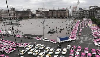Taxistas son recibidos en la Secretaría de Gobernación