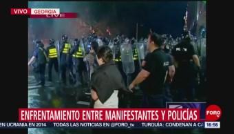 Foto: Protestas en Georgia, Rusa, terminan en enfrentamientos
