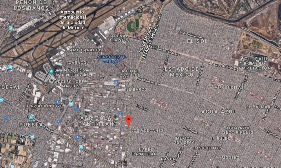 IMAGEN El puente que conecta Iztacalco con Neza ya fue reparado con neopreno (Google Maps 2019)