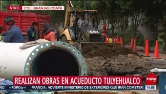 FOTO: Realizan obras en acueducto Tulyehualco