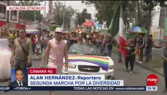 FOTO: Realizan segunda marcha por la diversidad en Iztacalco, 15 Junio 2019