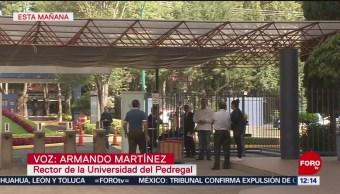 Rector de Universidad del Pedregal anuncia colaboración con CDMX por seguridad de estudiantes