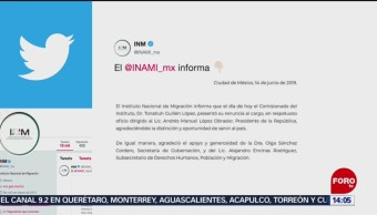 FOTO: Renuncia Tonatiuh Guillén López, comisionado del INM