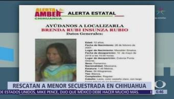 Rescatan en Tabasco a menor que fue secuestrada en Chihuahua