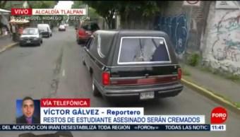 Restos de estudiante Hugo Leonardo Avendaño serán cremados