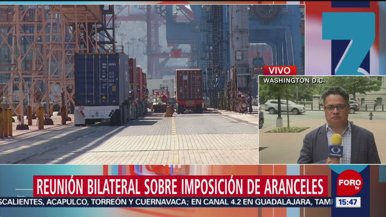 Foto: Reunión bilateral sobre imposición de aranceles
