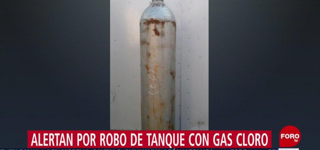 FOTO: Roban tanque de gas cloro en Hidalgo, Michoacán, 15 Junio 2019