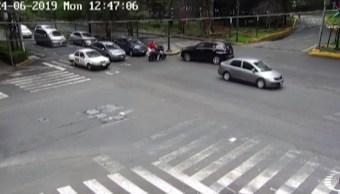 Automovilistas cortan huida de ladrones y logran su captura en Polanco
